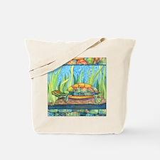 Tie Dye Turtle Watercolor Tote Bag