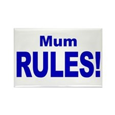 Mum Rules! Rectangle Magnet (100 pack)