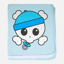 Baby Boy Skully baby blanket