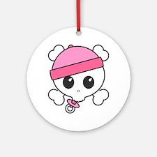 Baby Girl Skully Ornament (Round)