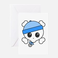Baby Boy Skully Greeting Card