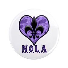 "NOLA Purple Heart 3.5"" Button"