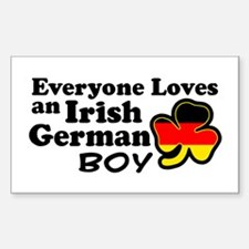 Irish German Boy Decal
