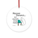 Massage Therapist Ornament (Round)
