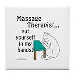 Massage Therapist Tile Coaster