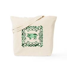 Pig Lattice Tote Bag
