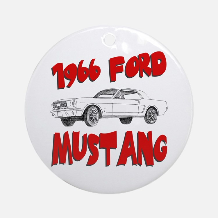 1966 Ford Mustang Ornament (Round)