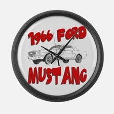 1966 Ford Mustang Large Wall Clock