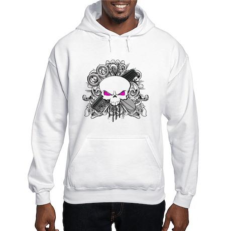 Hairdresser Pirate Skull Hooded Sweatshirt