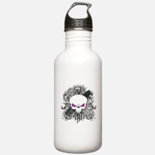 Hairdresser Pirate Skull Water Bottle