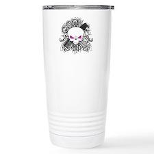 Hairdresser Pirate Skull Thermos Mug