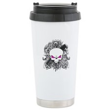 Hairdresser Pirate Skull Travel Mug