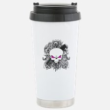 Hairdresser Pirate Skull Travel Mug