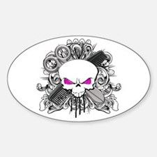 Hairdresser Pirate Skull Decal