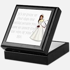 Brown eyed, brunette bride Keepsake Box