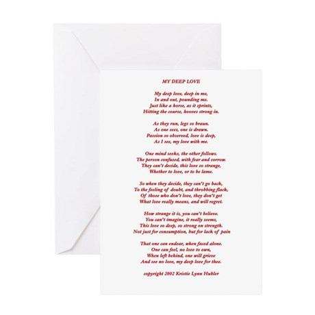 Valentine's Day poem, My Deep Love, Greeting Card