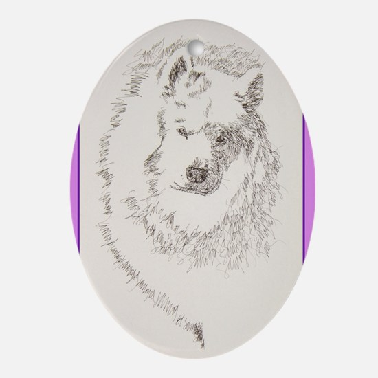 Samoyed Ornament (Oval)