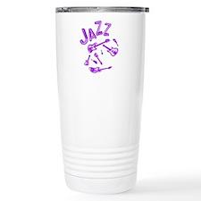 Jazz Electric Bass Purple Travel Mug