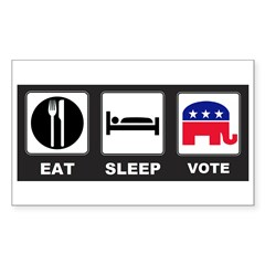 Eat Sleep Vote Conservative Decal