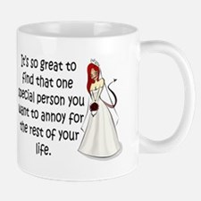 Green eyed, redhead bride Mug