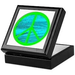 GREEN BLUE PEACE Keepsake Box