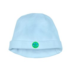 GREEN BLUE PEACE baby hat