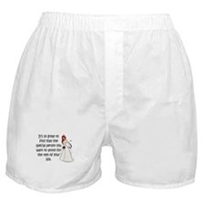 Red eyed, redhead bride Boxer Shorts