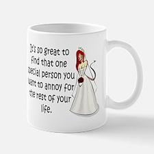 Red eyed, redhead bride Mug