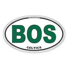 (BOS) Celtics Euro Oval Decal