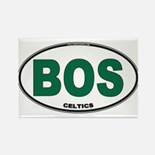 (BOS) Celtics Euro Oval Rectangle Magnet