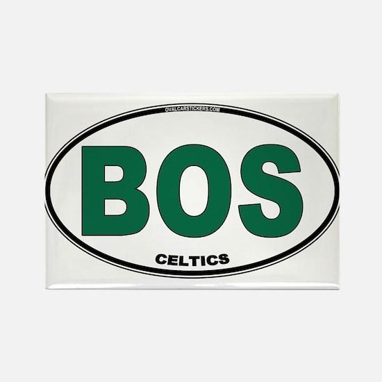 (BOS) Celtics Euro Oval Rectangle Magnet
