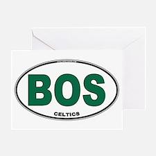 (BOS) Celtics Euro Oval Greeting Card