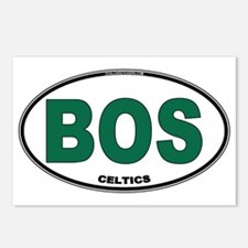 (BOS) Celtics Euro Oval Postcards (Package of 8)