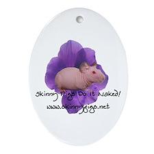 Skinny Pig Ornament (Oval)