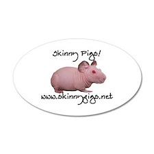 Skinny Pig 38.5 x 24.5 Oval Wall Peel