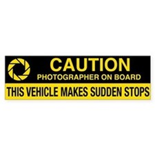 Wa Photographer's Bumper Sticker V2