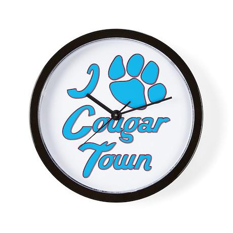 I Love Cougar Town Wall Clock