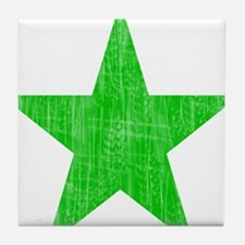 Green Star Tile Coaster