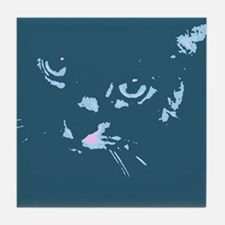 Pop Art Gray Cat Tile Coaster