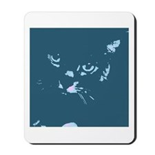 Pop Art Gray Cat Mousepad