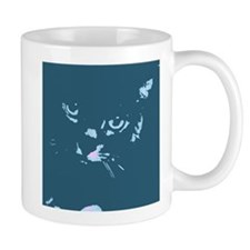 Pop Art Gray Cat Mug