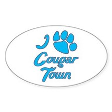 I Love Cougar Town Decal