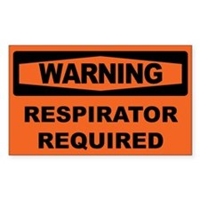 RESPIRATOR REQUIRED Decal