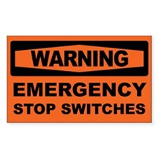 EMERGENCY STOP SWITCHES Decal