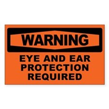 EYE AND EAR PROTECTION Decal