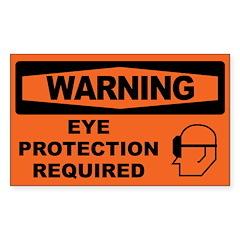 EYE PROTECTION Decal