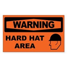 HARD HAT AREA Decal