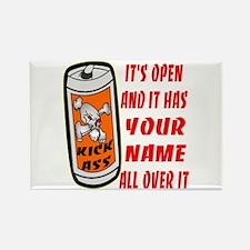 Open Can Of Kick Ass Rectangle Magnet
