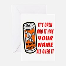 Open Can Of Kick Ass Greeting Cards (Pk of 20)