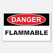 FLAMMABLE Sticker (Rectangle)